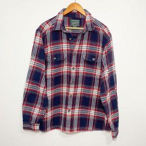 Woolrich | Men's Plaid Heavy Cotton Flannel EUC